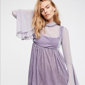 Lavender baby doll Free People Dress- NEW